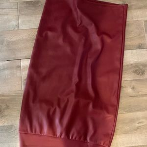 Lularoe ivy skirt new no tag red leather